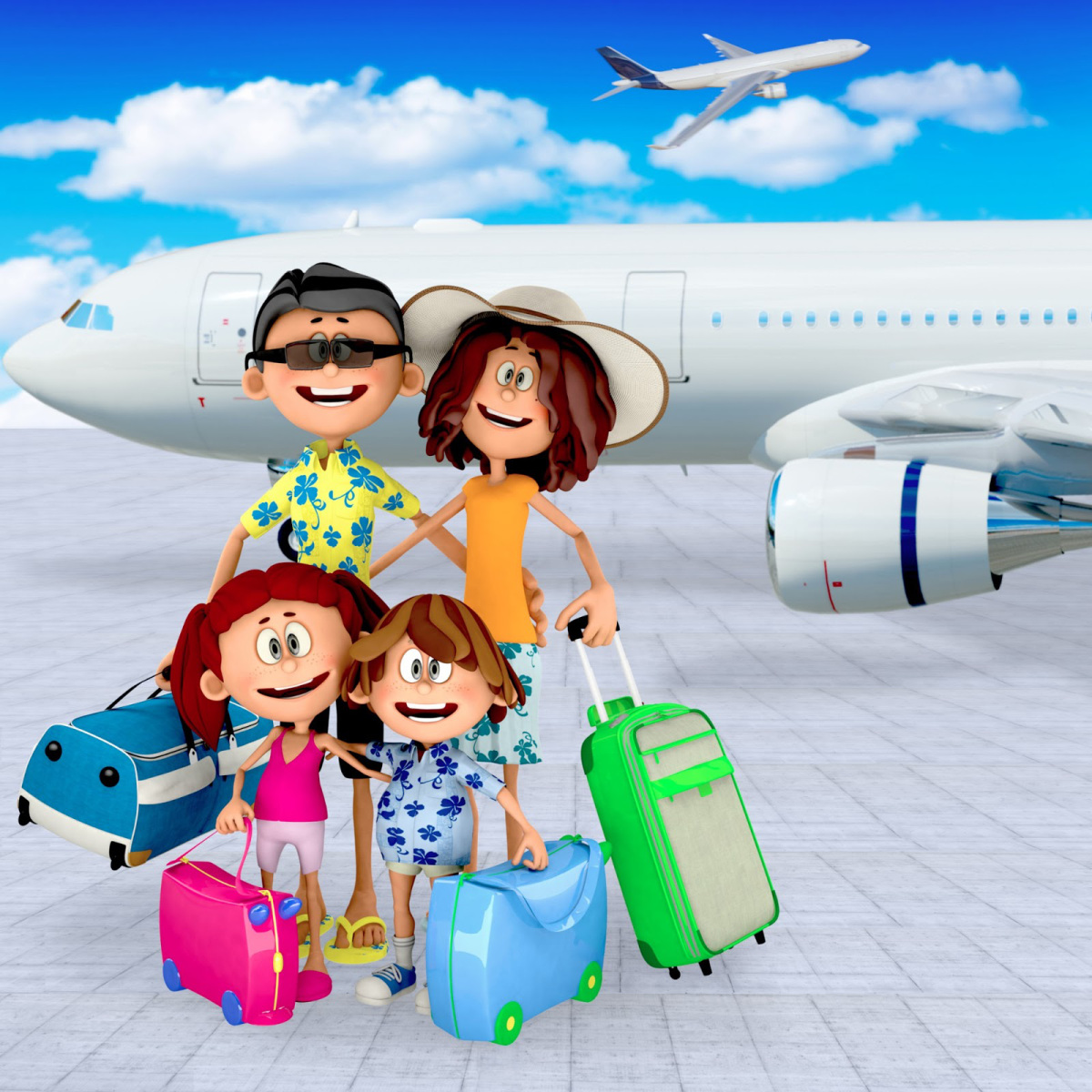 Открытки отпуск самолет, доброго